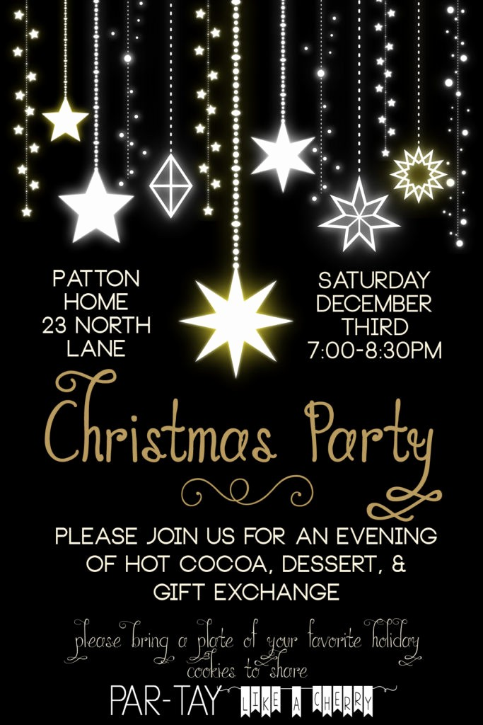 Free Online Christmas Party Invitations Luxury Free Christmas Party Invitation Party Like A Cherry