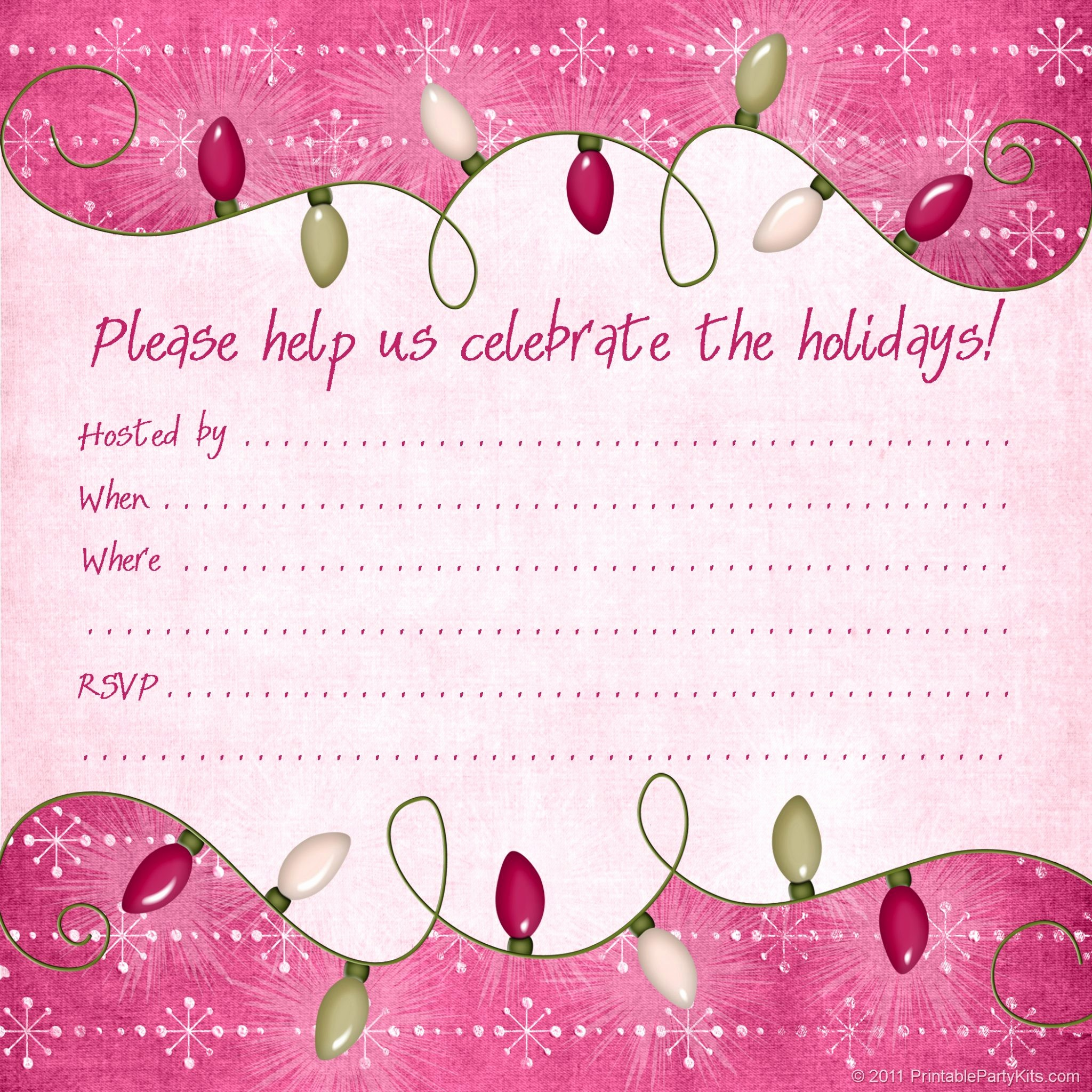 Free Online Christmas Party Invitations New Christmas