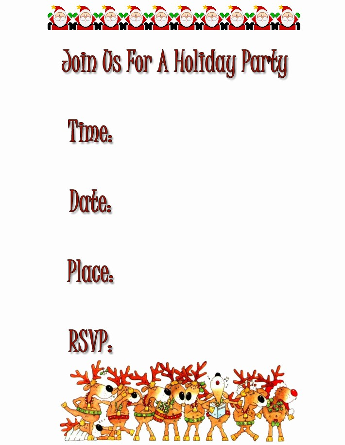Free Online Christmas Party Invitations Unique Free Holiday Party Invitations Free Christmas Invitations