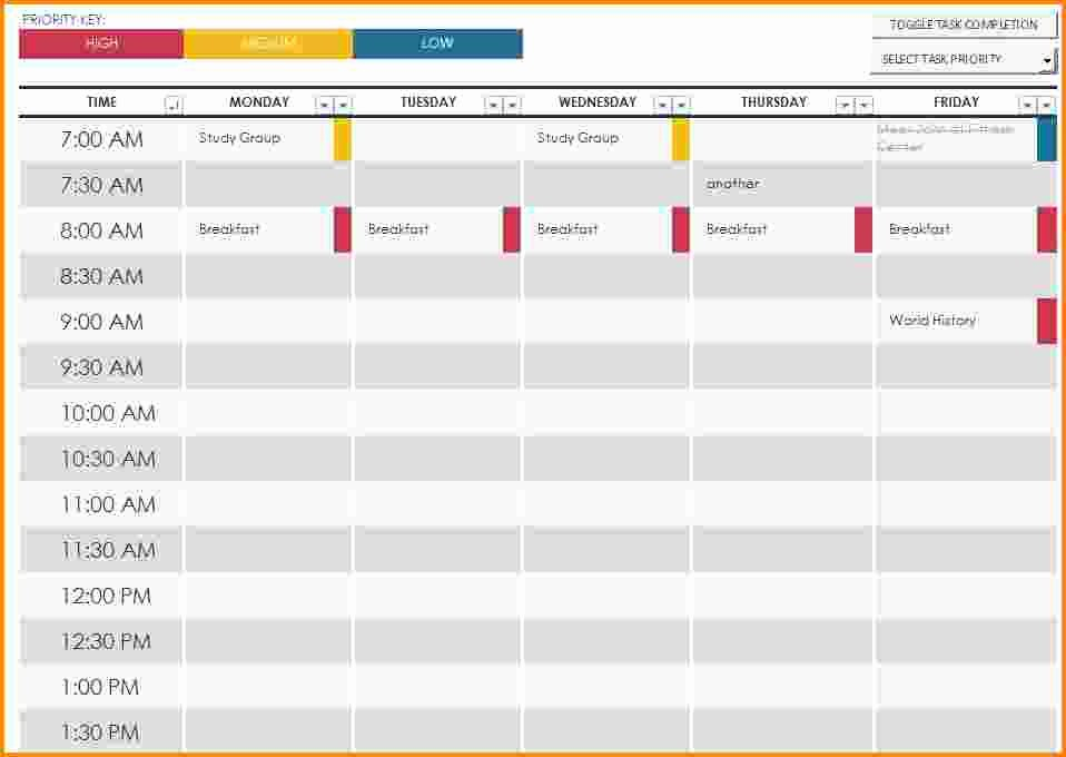 Free Online College Schedule Maker Awesome 7 Work Schedule Maker Free