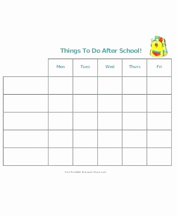 Free Online College Schedule Maker Awesome after School Schedule Template Printable High Daily