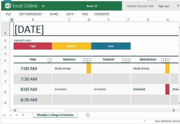 Free Online College Schedule Maker Awesome Timetable Maker Excel