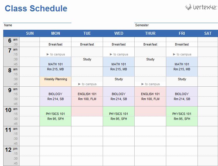 Free Online College Schedule Maker Beautiful Homework Schedule Generator