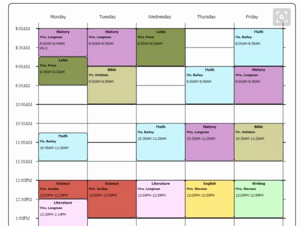 Free Online College Schedule Maker Best Of Cute Class Schedule Maker