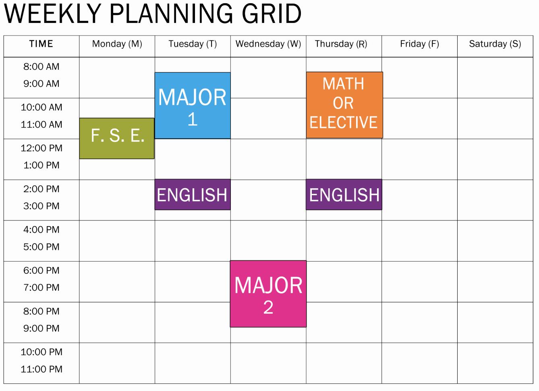 Free Online College Schedule Maker Best Of Make Schedule Line How to Make A Schedule Online Best
