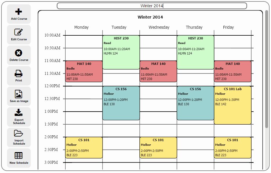 Free Online College Schedule Maker Elegant Free College Schedule Maker