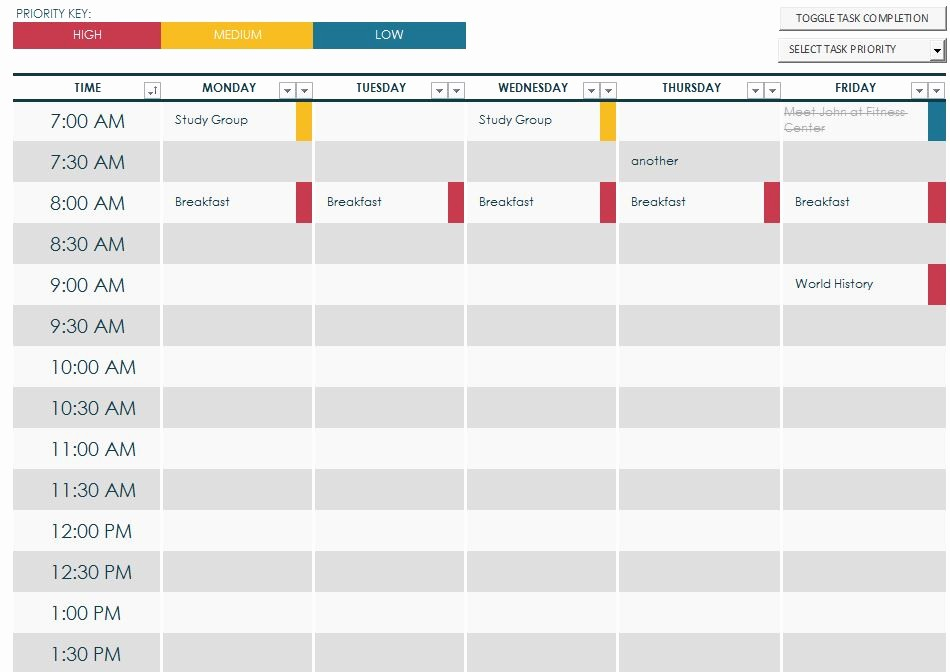 Free Online College Schedule Maker Inspirational 7 Best Of Printable Class Schedule Maker Class