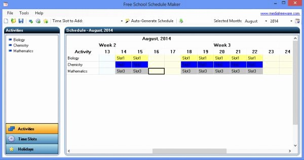 Free Online College Schedule Maker Lovely Free School Schedule Maker Screenshots Freeware Base