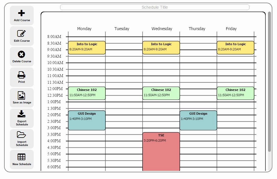 Free Online College Schedule Maker Lovely Timetable Maker for School Free