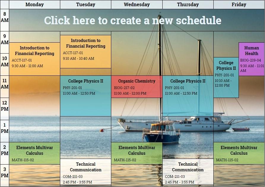 Free Online College Schedule Maker Luxury Class Schedule Maker for Students 94xrocks Schedule Maker
