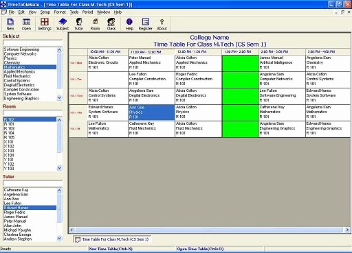 Free Online College Schedule Maker Luxury Time Table software Timetables Class Schedule Maker