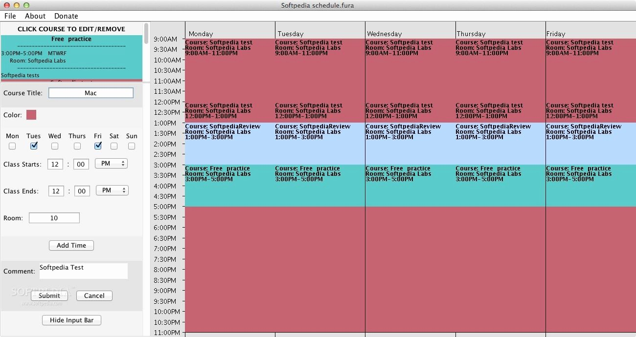 Free Online College Schedule Maker New Download Free College Schedule Maker 1 0 Mac softpedia