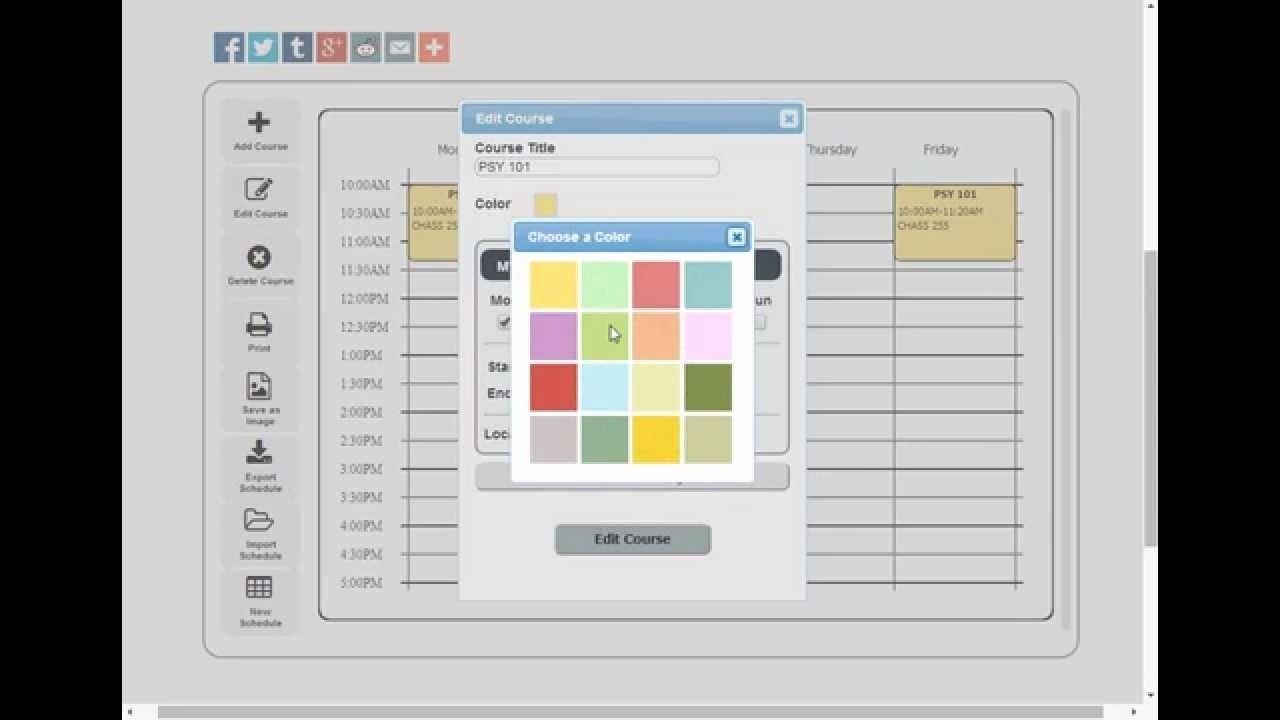 free schedule maker app