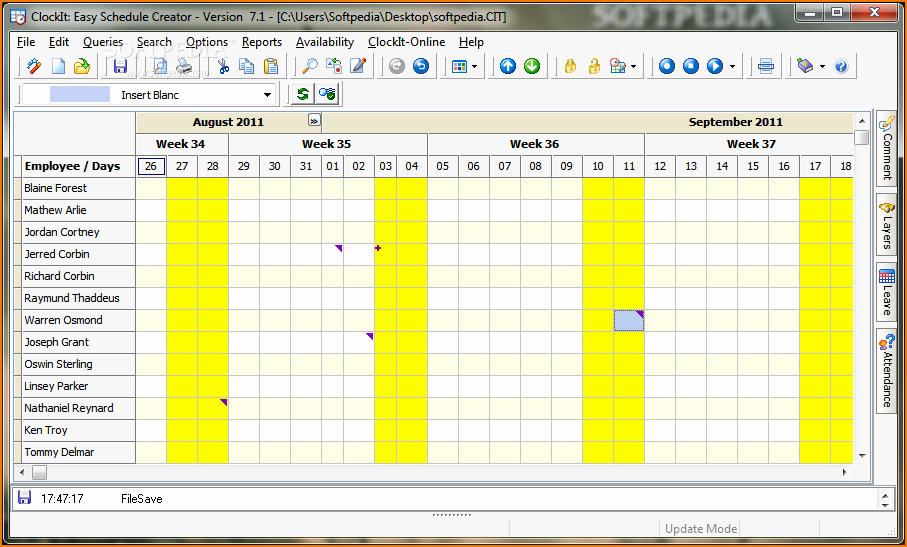 Free Online College Schedule Maker Unique 4 Work Schedule Maker