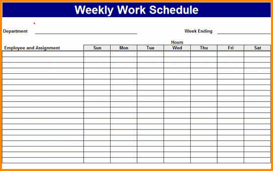 Free Online Weekly Schedule Maker Best Of 7 Work Schedule Maker Free