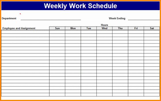 Free Online Weekly Schedule Maker Best Of 7 Work Schedule Maker Free