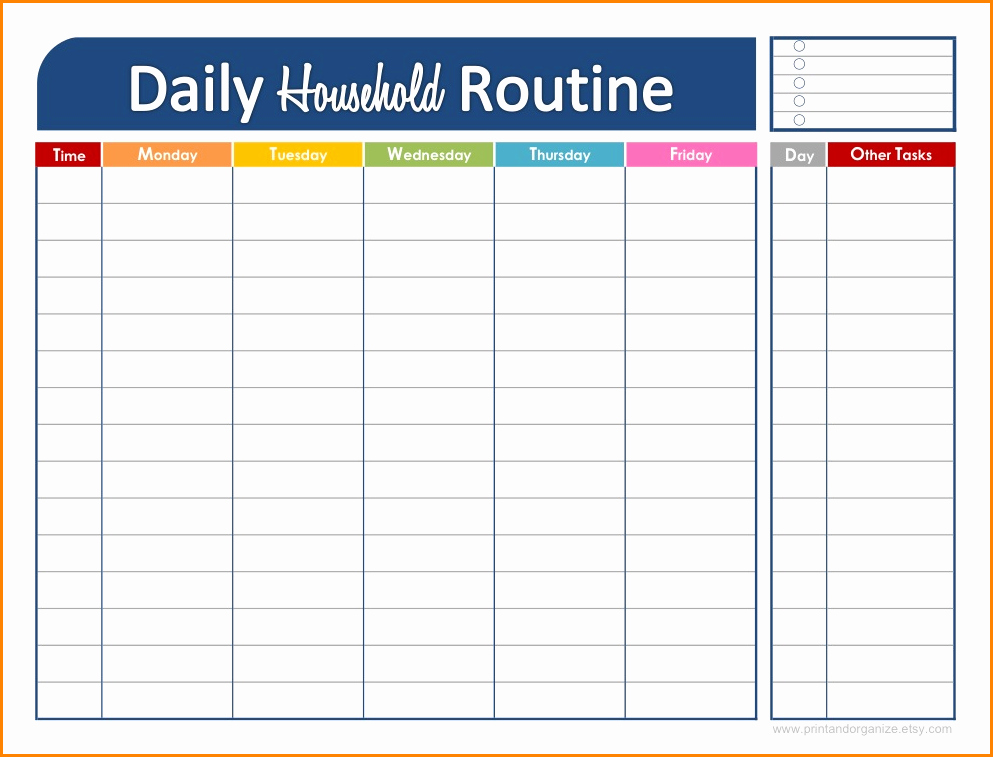 Free Online Weekly Schedule Maker Elegant Daily Schedule Maker