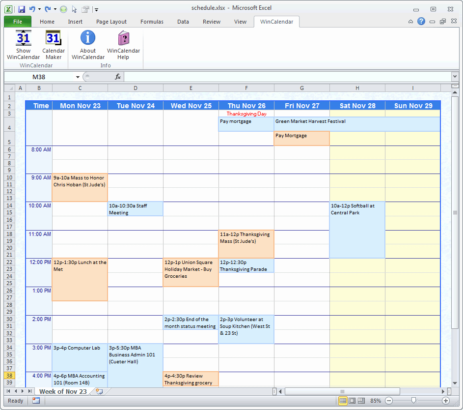 Free Online Weekly Schedule Maker Elegant Weekly Calendar Maker