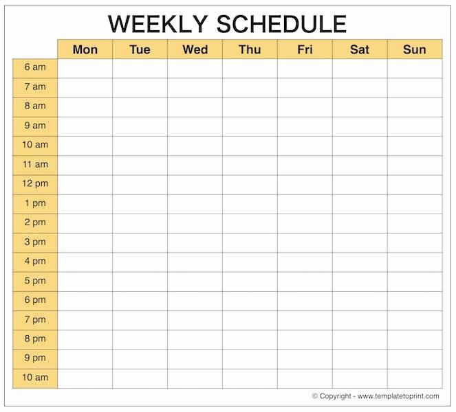 Free Online Weekly Schedule Maker Inspirational Weekly Calendar Maker