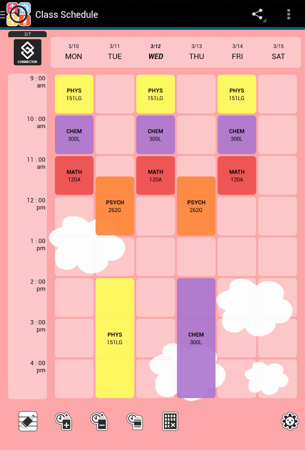 Free Online Weekly Schedule Maker Lovely Cute Class Schedule Maker