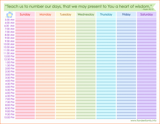 Free Online Weekly Schedule Maker New Weekly Calendar Maker