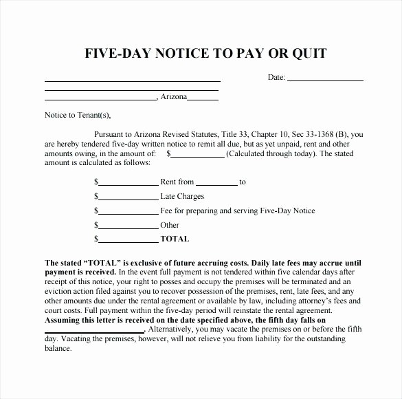 Free Pay or Quit Notice Elegant Va Pay Quit Notice form Template Image Result for