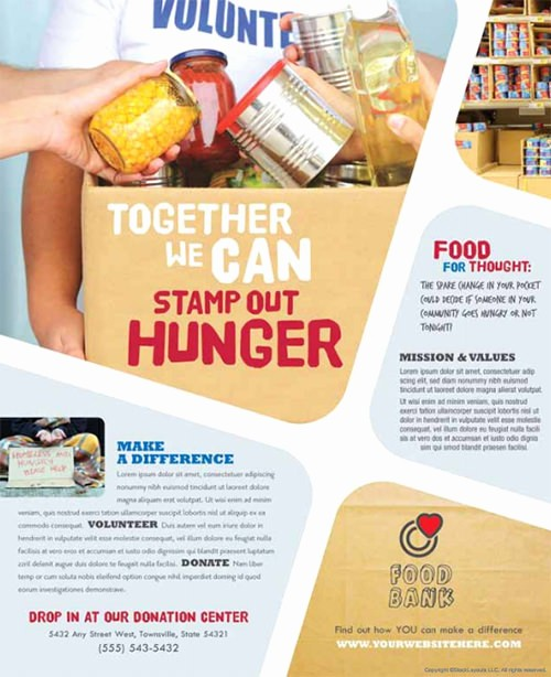 Free Poster Templates for Word Awesome Food Drive Flyer Template Yourweek D44a8beca25e