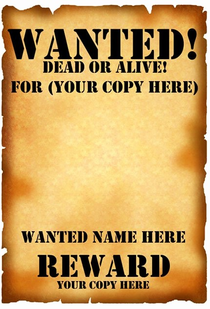 Free Poster Templates for Word Best Of 29 Free Wanted Poster Templates Fbi and Old West