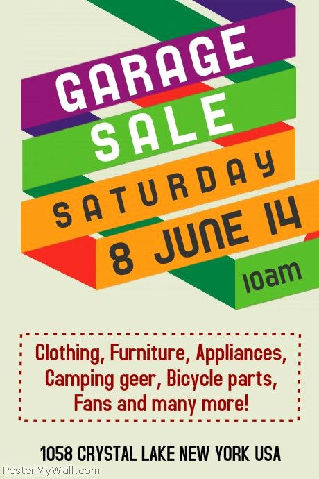 Free Poster Templates for Word Best Of Munity Yard Sale Flyer Template Google Search