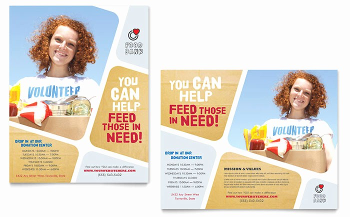 Free Poster Templates for Word Fresh Food Bank Volunteer Poster Template Design