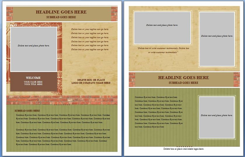 free templates for flyers microsoft word free ms word real es