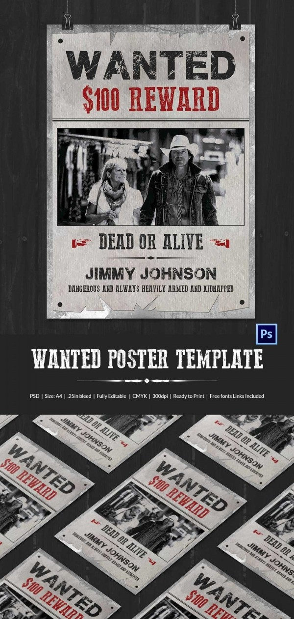 Free Poster Templates for Word Fresh Wanted Poster Template 34 Free Printable Word Psd
