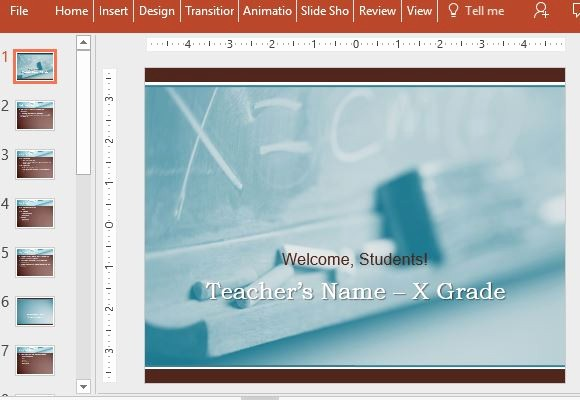 Free Power Point Templates Com Awesome Free Back to School Powerpoint Template