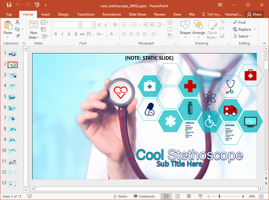 Free Power Point Templates Com Beautiful Animated Medical Powerpoint Template