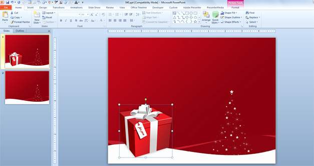 Free Power Point Templates Com Best Of Christmas Boxes Psd Template for Powerpoint Presentations