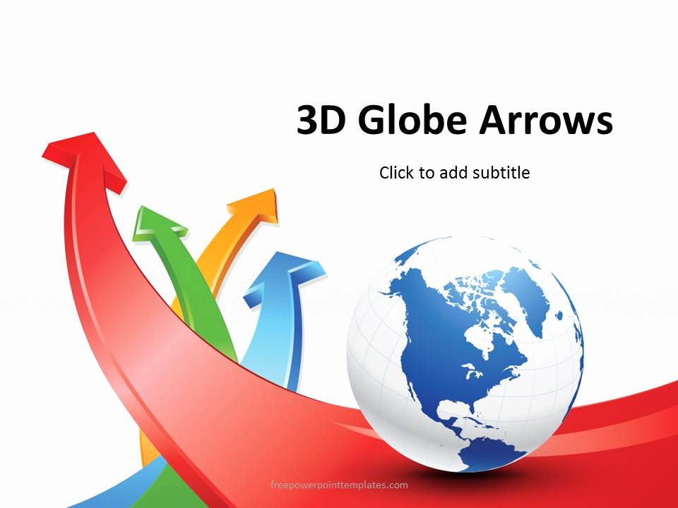 Free Power Point Templates Com Fresh Free 3d Globe Arrows Powerpoint Template