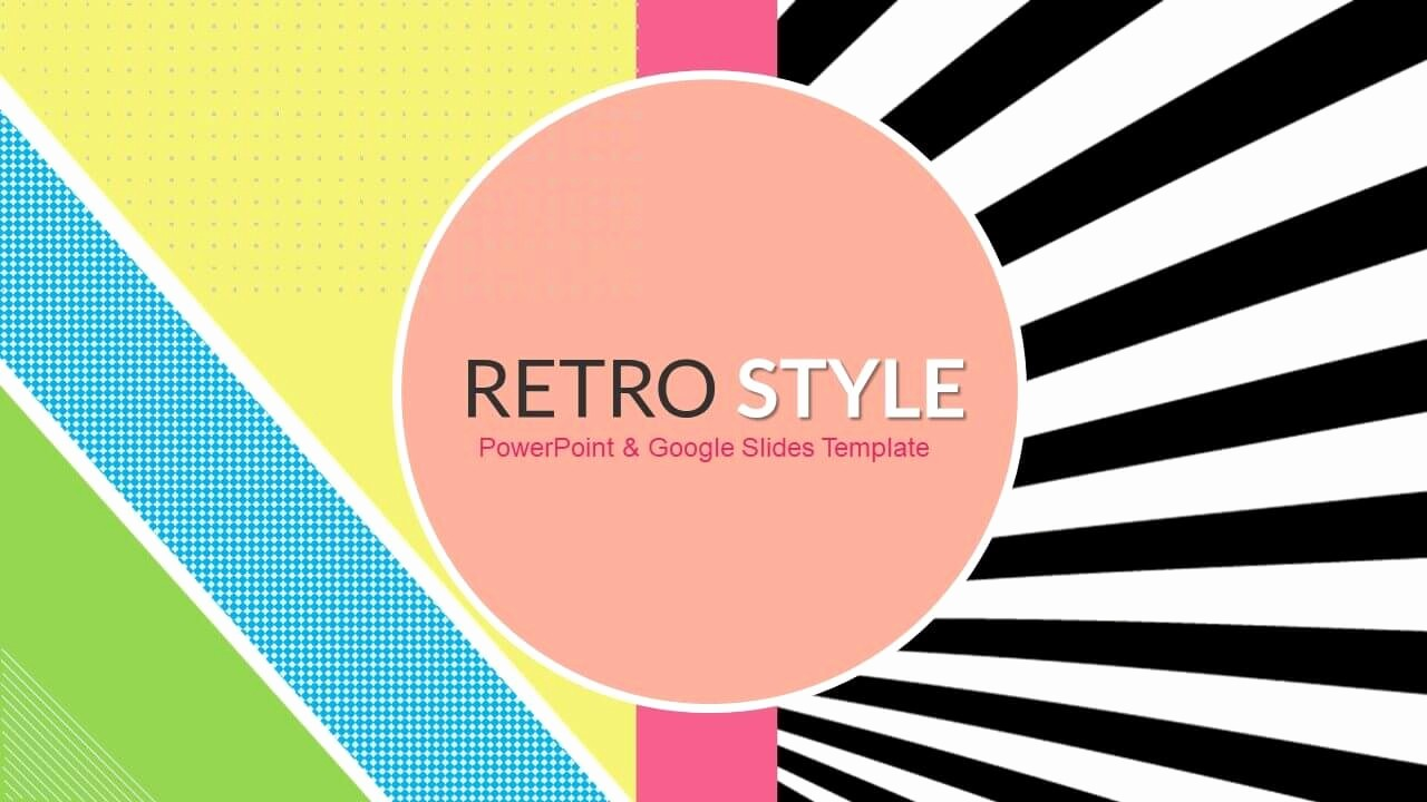 Free Power Point Templates Com Inspirational Retro Style Funky Free Powerpoint Templates & Google