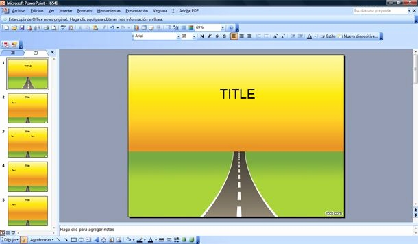 Free Power Point Templates Com Lovely Road Powerpoint Template