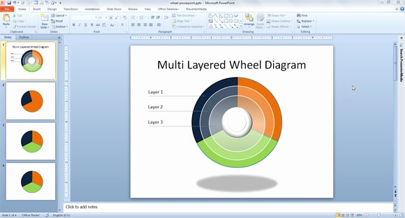 Free Power Point Templates Com New How to Make A Layered Wheel Diagram Template In Powerpoint
