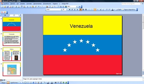Free Power Point Templates Com New Venezuela S Flag Ppt Venezuela Powerpoint Template