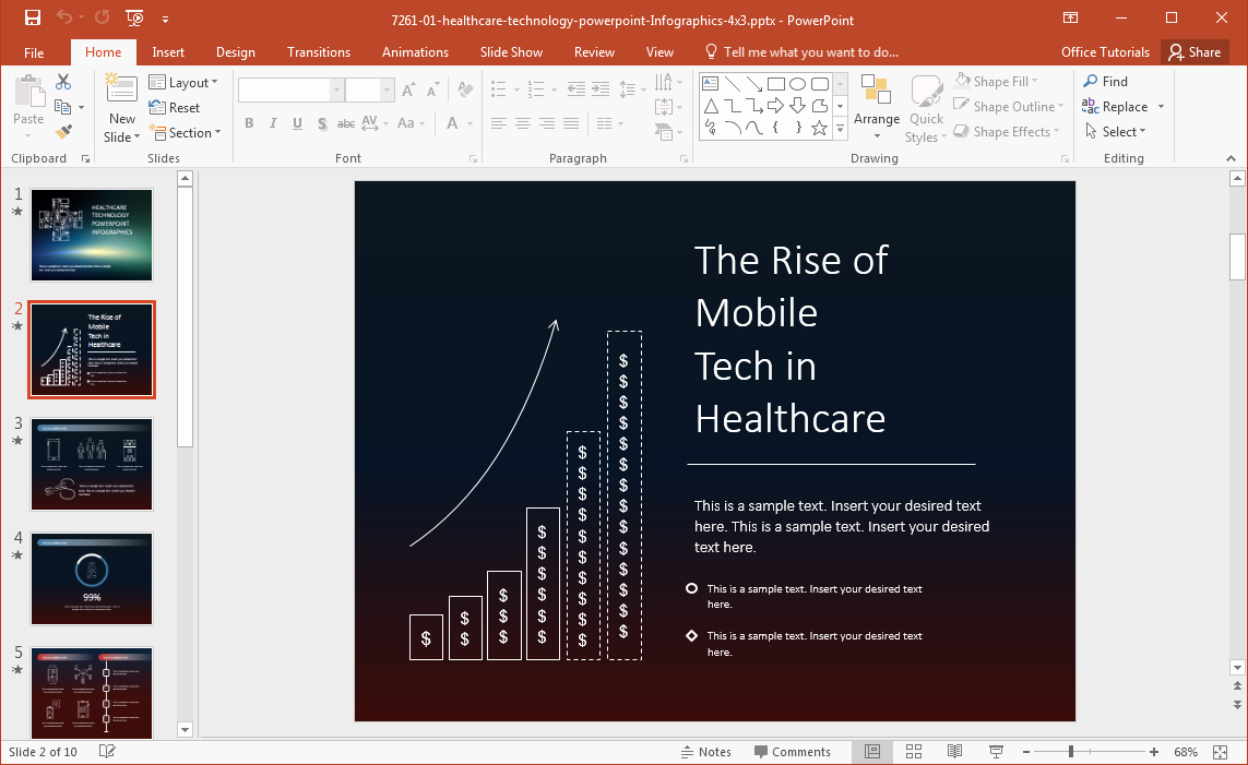 Free Power Point Templates Com Unique Healthcare Technology Infographics Template for Powerpoint