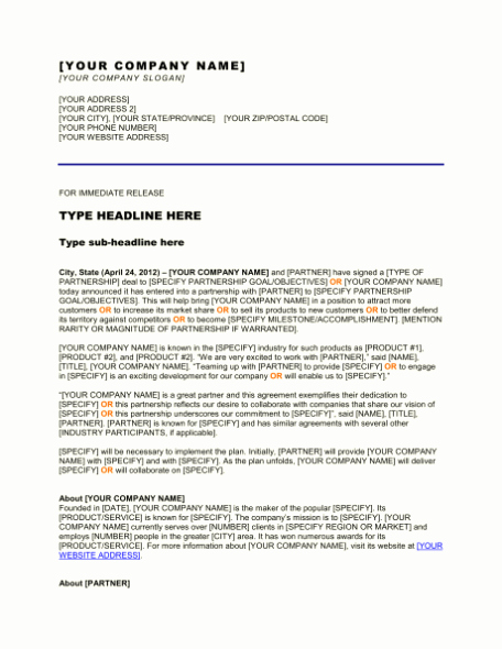 Free Press Release Template Word Awesome Free Sample Press Release Template Word