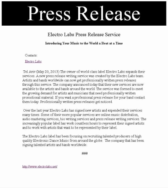 Free Press Release Template Word Best Of 21 Free Press Release Template Word Excel formats