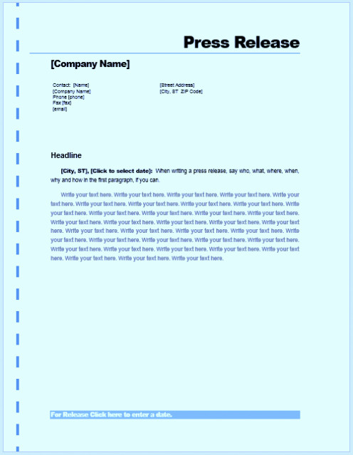 Free Press Release Template Word Best Of Free Sample Press Release Template Word