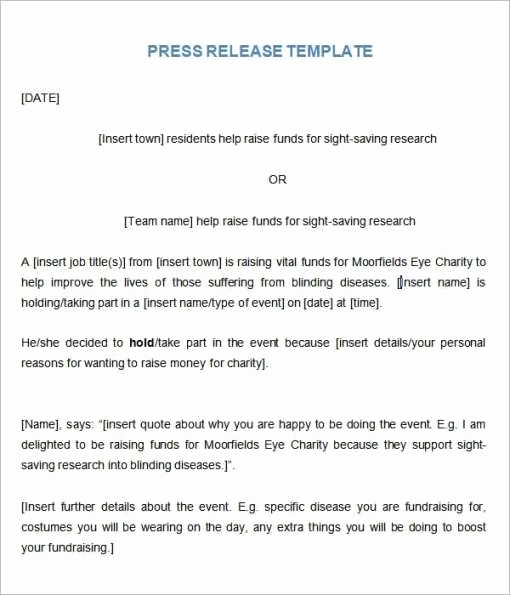 Free Press Release Template Word Luxury 21 Free Press Release Template Word Excel formats