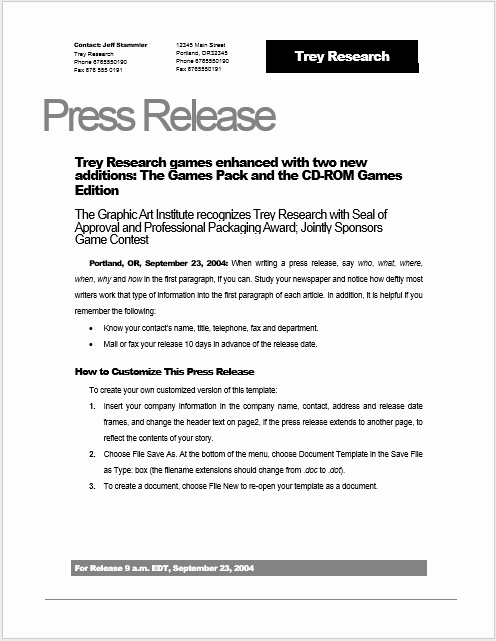 Free Press Release Template Word Luxury Press Release Template 15 Free Samples Ms Word Docs
