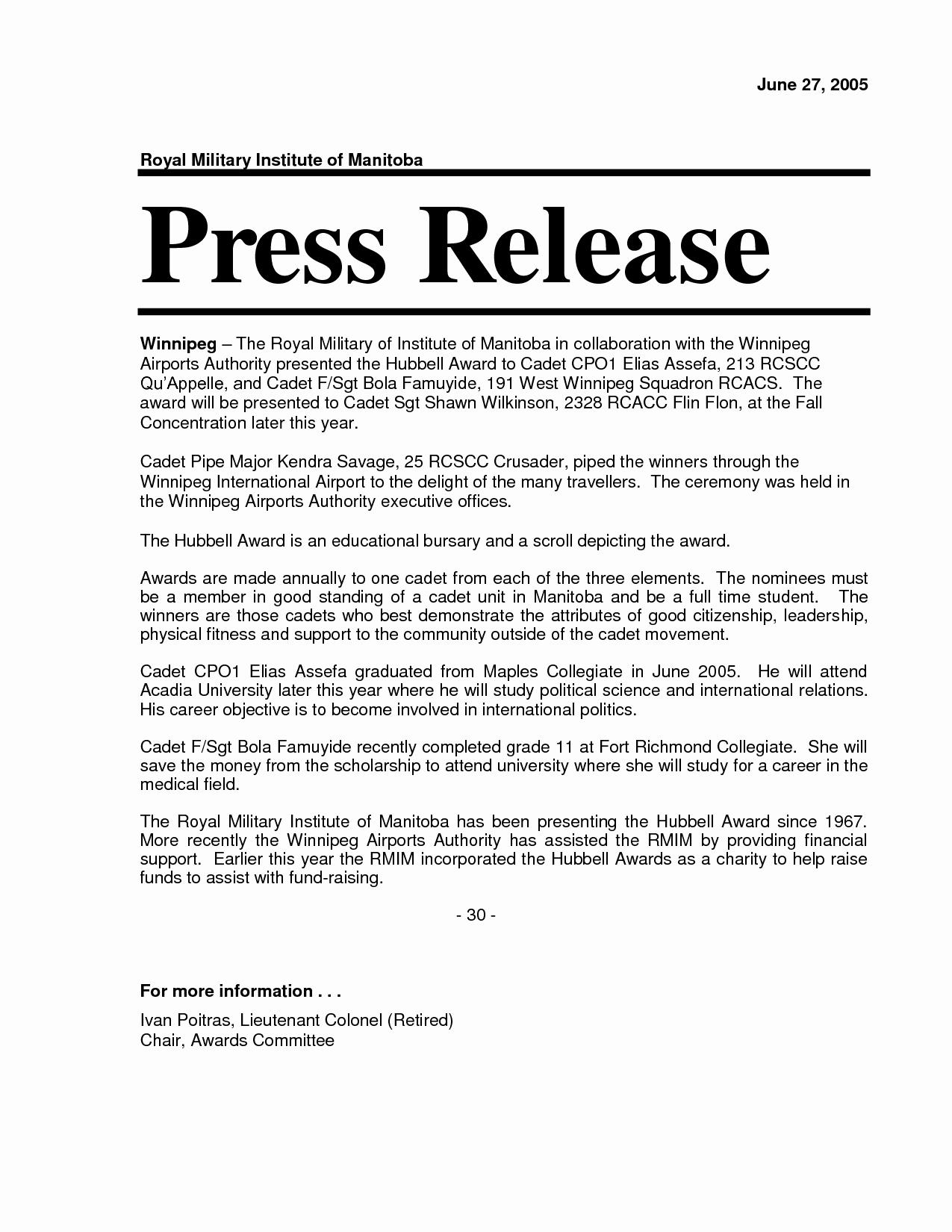 Free Press Release Template Word Luxury Release Press Release Template