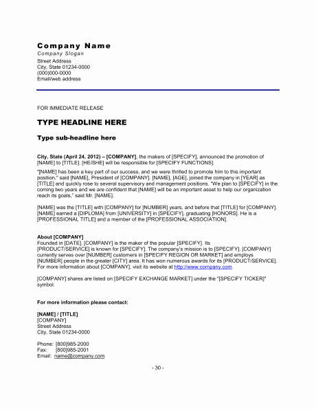 Free Press Release Template Word Luxury top 5 Resources to Get Free Press Release Templates Word