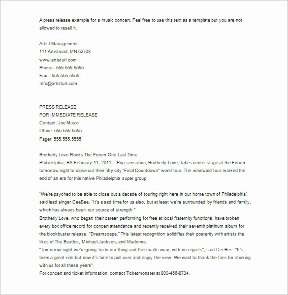 Free Press Release Template Word Unique 28 Press Release Template Word Excel Pdf