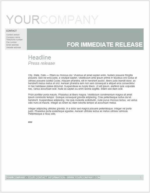 Free Press Release Template Word Unique Press Release Template 15 Free Samples Ms Word Docs